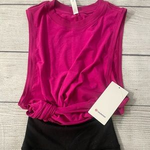 NWT LULULEMON All Yours Tank Size 4 RASPBERRY